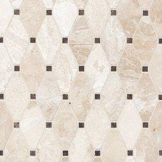 Crema Royal Diamond Polished Marble Mosaic