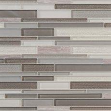 Glam Greige Linear Glass Mosaic