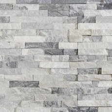 Harbor Gray Splitface Quartzite Panel Ledger