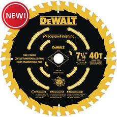 New! DeWalt 7-1/4 in. 40T Precision Finishing Saw Blade