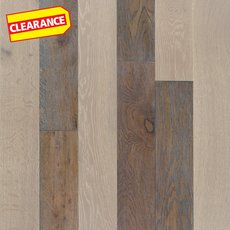 Clearance! Mixed Gray Oak Hand Scraped Wire Brushed Solid Hardwood