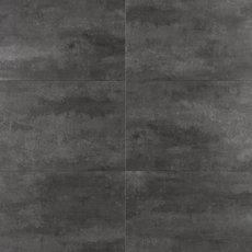Black Graphite Rigid Core Luxury Vinyl Tile - Cork Back
