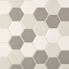 Unglazed Light Blend 2 in. Hexagon Porcelain Mosaic