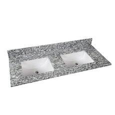 Kendall Gray Granite 61 in. Vanity Top