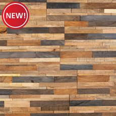 New! Tropical Mix Peel and Stick Reclaimed Wood Wall Panel