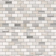 Skyline Blend Mini Brick Polished Marble Mosaic