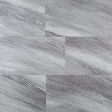 Silver Fan Gray Rigid Core Luxury Vinyl Plank - Foam Back