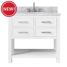 New! Brooks 37 in. Vanity with Carrarra Marble Top