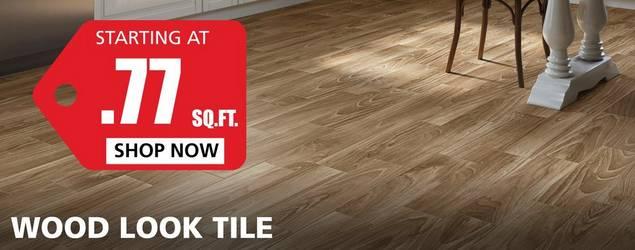 Wood-Look Tile starting at $0.77 per square foot