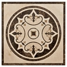 Fleur De Lis Cream Decorative Medallion