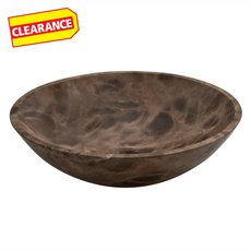 Clearance! Dark Emperador Polished Marble Sink