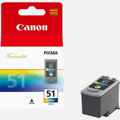 Cartouche d'encre couleur haute autonomie Canon CL-51 C/M/Y