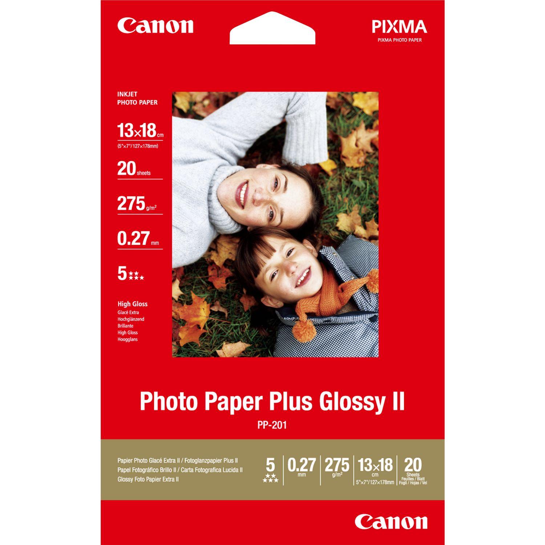 Canon Pp 201 Glossy Ii Photo Paper Plus 13 X 18 Cm 20 Vel In