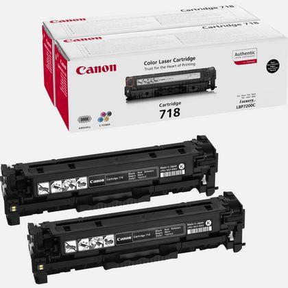 Cartouche toner noir Canon 718VP (lot de deux cartouches toner à prix réduit)