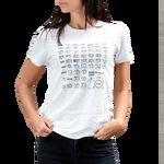 Image of Canon Camera History T-shirt, White, Extra Small