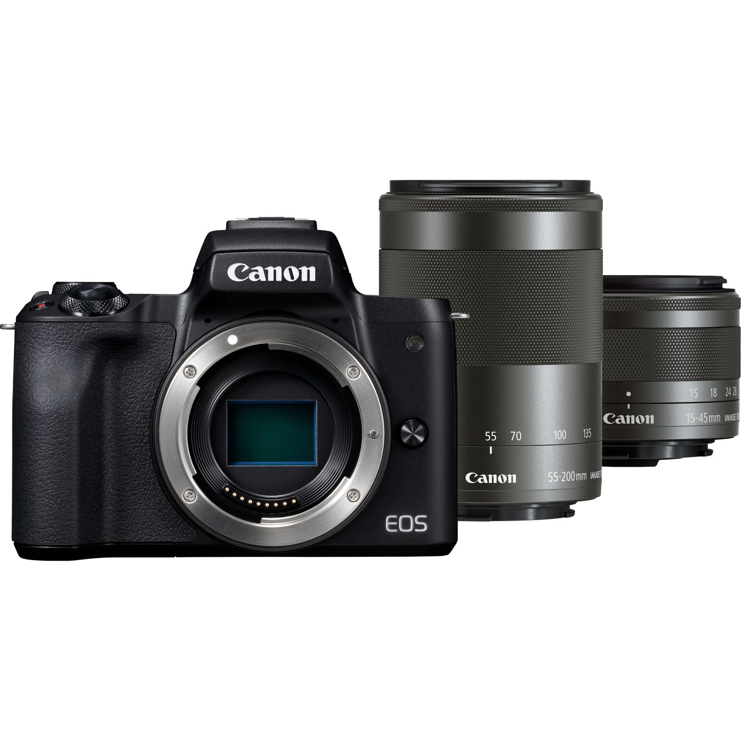 Buy Canon EOS M50 Body + EF-M 15-45mm IS STM + EF-M 55-200mm