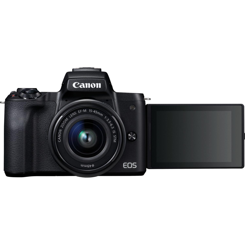 Buy Canon Eos M50 Black Ef M 15 45mm Is Stm Lens In Wi Fi 100d Kit 18 55 100 D Magnify Image