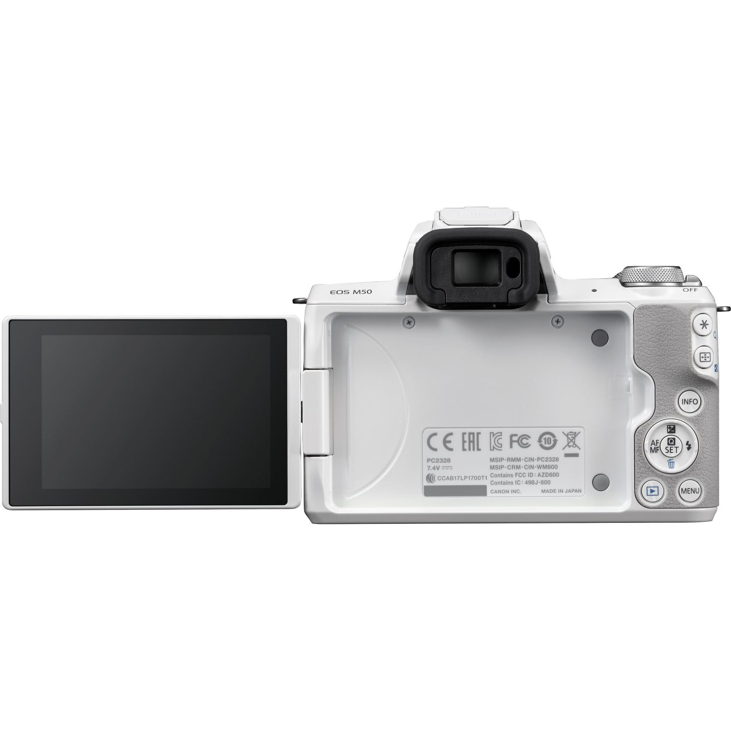 Buy Canon EOS M50 White + EF-M 15-45mm IS STM Lens Silver in Wi-Fi