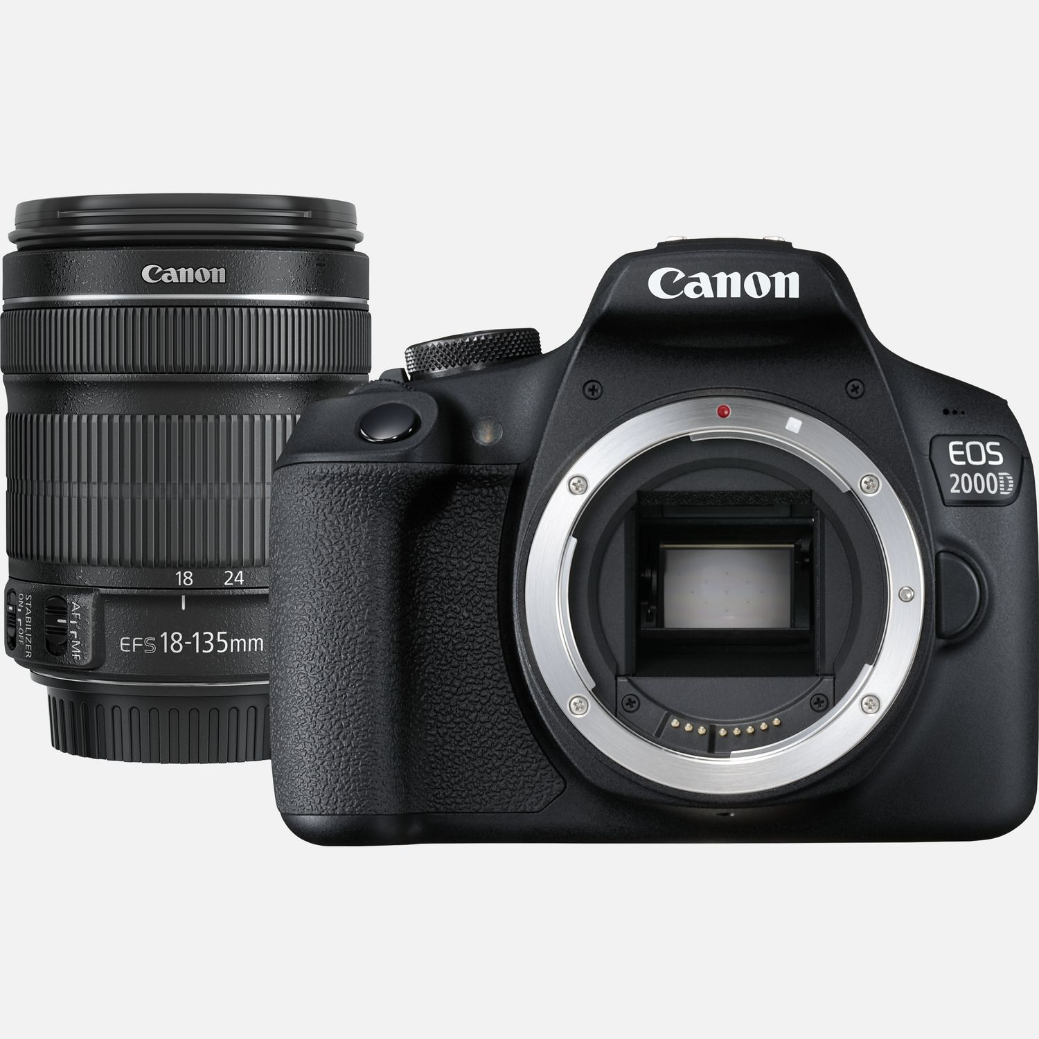 Image of Canon EOS 2000D and EF-S 18-135mm Lens
