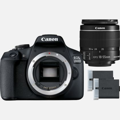 Canon EOS 2000D + Objectif EF-S 18-55mm IS II+ LP-E10
