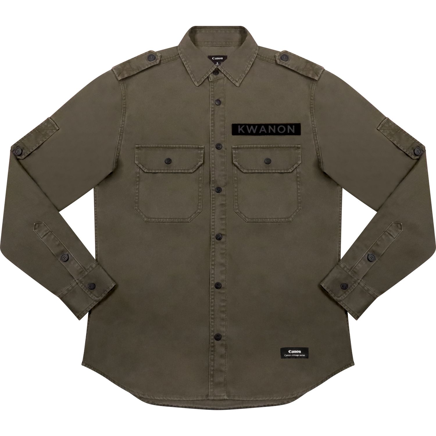 5076c189855 Magnify image. Men s overshirt with Canon vintage logo ...