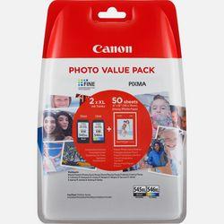 Immagine di Confezione multipla cartucce d'inchiostro a resa elevata Canon PG-545XL/CL-546XL + carta fotografica