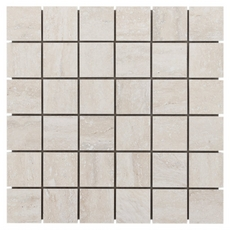 Travertini Bianco Porcelain Mosaic
