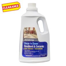 Clearance! Armstrong Once N Done Floor Cleaner Concentrate