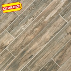 Clearance! Salvage Musk Wood Plank Porcelain Tile
