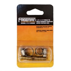 Freeman Male to Male Barbed Coupler 1/4in. x 1/4in.
