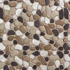 Metallico Moon Pebble Stone Mosaic