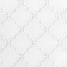 Arabesque Fleur Snow Water Jet Cut Glass Mosaic