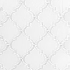 Fleur Snow Arabesque Glass Mosaic