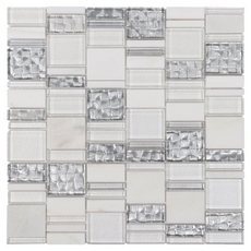 Montage Parana Light Pattern Polished Glass Mosaic