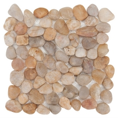 Decorative Gold Pebble Stone Mosaic