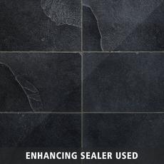 Black Brushed Limestone Tile