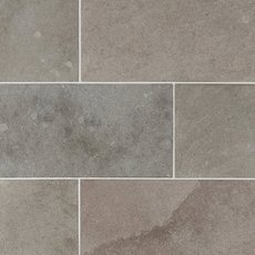 Ashford Gray Brushed Limestone Tile