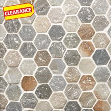Clearance! Andes Hexagon Slate Mosaic