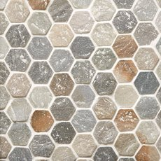 Andes Hexagon Slate Mosaic