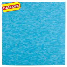 Clearance! Bikini Blue Vinyl Composition Tile - VCT - 57512