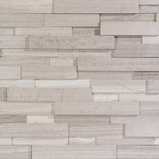 Maravilla Valentino White Interlocking Honed Panel Marble Mosaic