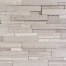 White Honed Marble Mosaic