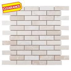Ice Beige Brick Marble Mosaic 12 X 100051903