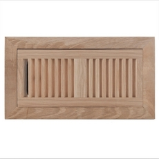 White Oak Flush Mount Unfinished Floor Register