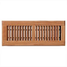 Light Oak Louvered Floor Register