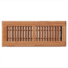 Light Oak Louvered Floor Register
