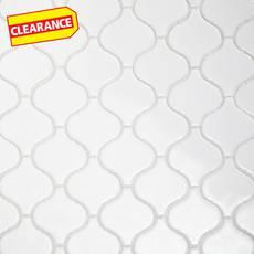 Clearance! Arabesque Lantern White Porcelain Mosaic