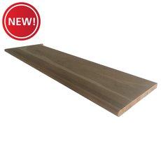 New! Unfinished Left Hand Oak Single Return Stair Riser - 42 in.