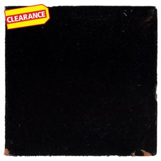 Clearance! Hand-Painted Black Talavera Tile (Pattern RT4N)