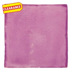 Clearance! Hand-Painted Pink Talavera Tile (Pattern RT4VI)